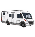 white large motor home vector image