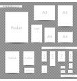 white print sizes advertisement set vector image vector image