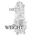 you don t need to go on a diet to lose weight vector image vector image
