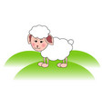 cute sheep lamb head vector image