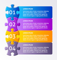 Colorful puzzle design template vector image