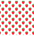 seamless pattern with strawberries on white vector image