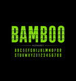 bamboo style font vector image