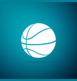 basketball ball icon isolated on blue background vector image