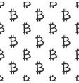 bitcoin sign icon brush lettering seamless vector image vector image