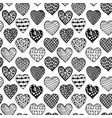 black and white seamless background hand drawn vector image