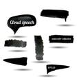 Black watercolor grunge arrows collection vector image vector image