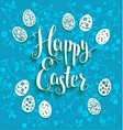 Blue easter background vector image vector image