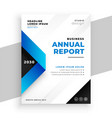 blue geometric annual report presentation vector image vector image
