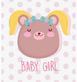 boy or girl gender reveal its a girl cute bear vector image