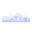 brasilia skyline brazil city buildings line vector image vector image