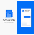 business logo for business document file paper vector image