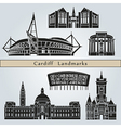 cardiff landmarks and monuments vector image vector image