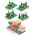 casino isometric elements set vector image vector image