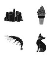 cat home progress and other web icon in black vector image vector image