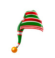 christmas holiday hat3d funky red and green vector image