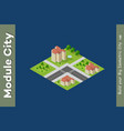 city isometric set vector image vector image