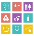 Color icons for Web Design set 45 vector image vector image