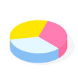 colorful 3d pie diagram pie chart digital vector image vector image