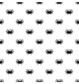 Crab pattern simple style vector image vector image
