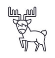 Cute elk line icon sign on