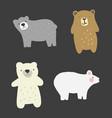 doodle bears set vector image