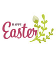 easter holiday christianity plant white blossom vector image vector image
