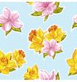 elegant stylish spring floral seamless pattern vector image vector image