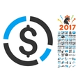 Financial Diagram Icon With 2017 Year Bonus vector image vector image