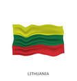 flag lithuania vector image vector image
