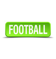 Football green 3d realistic square isolated button vector image vector image