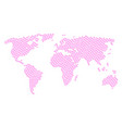 global map pattern of love granule icons vector image vector image