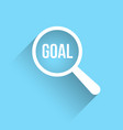 goal word magnifying glass vector image