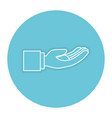 hand asking isolated icon vector image
