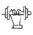 hand human with weight lifting equipment icon vector image vector image