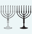 hanukkah with candles vector image