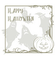 holiday halloween background vector image vector image