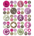 icons arrows set vector image