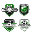 icons for soccer team football fan club vector image vector image