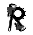 letter consisting of adjustable keys and gears vector image