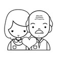 Line couple with beauty relation ships and heart