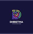 logo letter d line art style vector image