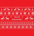 merry christmas on spanish - feliz navidad vector image vector image