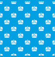 monarch crown pattern seamless blue vector image vector image