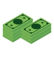 Money isometric icon vector image vector image