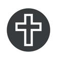 Monochrome round christian cross icon vector image vector image