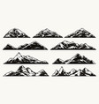 mountain landscapes composition vector image vector image