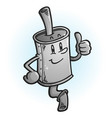 muffler cartoon mascot giving a thumbs up vector image vector image
