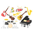 music instruments for performanc vector image vector image