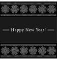New Year card with white ornamental snowflakes vector image vector image